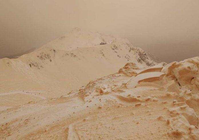 Πορτοκαλί χιόνι στην Ευρώπη δείτε γιατί ...