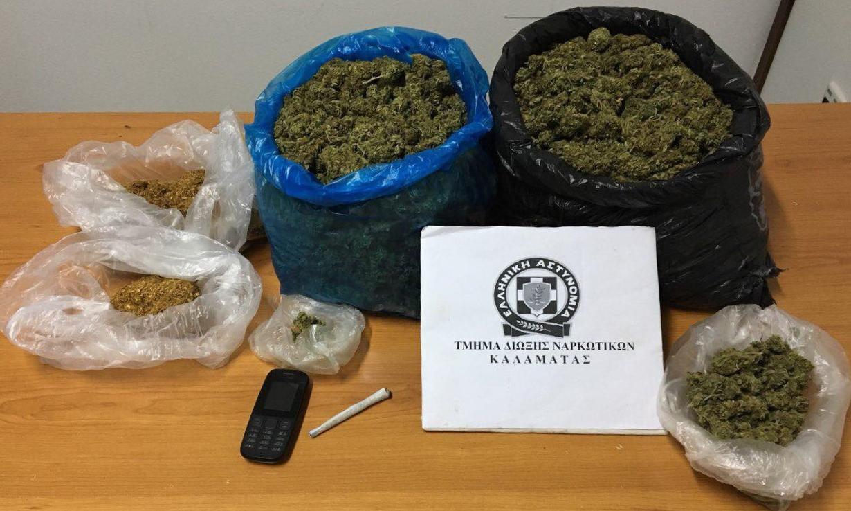 Συνελήφθη 40χρονος με 2 κιλά χασίς
